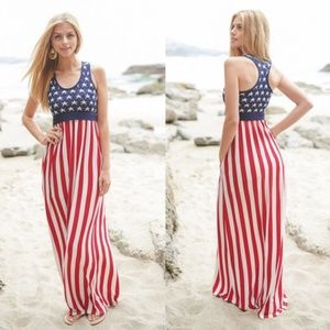 Stars & Striped Maxi Dress